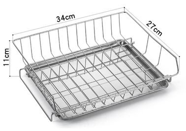 Chiny Modern Steel Rust Proof Metal Akcesoria kuchenne Dish Drying Rack Drain Board dystrybutor